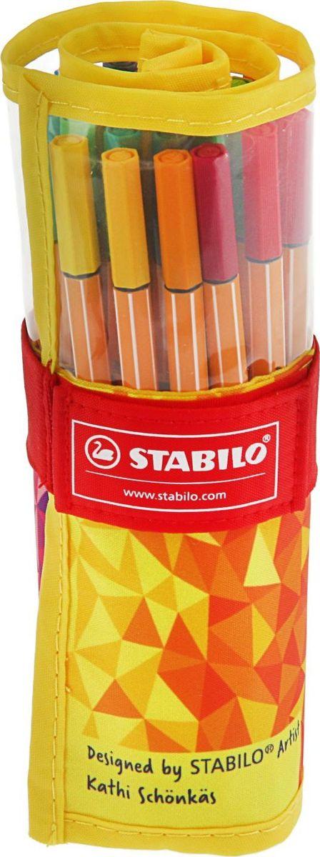 Stabilo Набор капиллярных ручек 25 цветов2364456Капиллярная ручка Stabilo идеально подходит для особо легкого и мягкого письма, рисования и черчения. Металлическое обжатие наконечника дает возможность работать с линейками и трафаретами. Высокое качество износостойкого пишущего наконечника и большой запас чернил значительно увеличивают срок службы ручки. Ручка долгое время сохраняет работоспособность без колпачка. Чернила на водной основе. Толщина линии 0,4 мм.