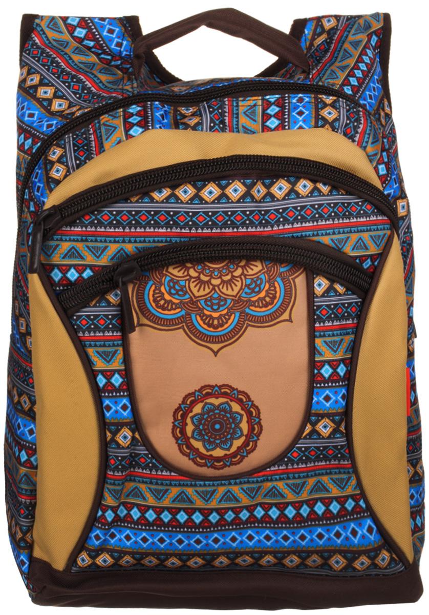 Hatber Рюкзак Basic Plus ЭтническийГризлиСтильный рюкзак Hatber незаменим в повседневном использовании. Рюкзак состоит из одного вместительного отделения и закрывается на молнию. Внутри расположен большой накладной карман. На передней стенке расположены два кармана на застежках-молнии.Широкие лямки регулируются по длине. Сверху имеется текстильная ручка для переноски.