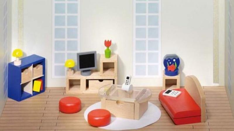 Goki Мебель для кукольной гостиной 28 предметов мебель для гостиной стенки горки