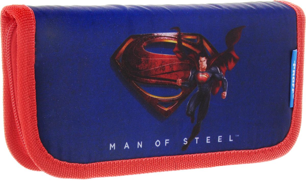 Proff Пенал Супермен цвет синий красный72523WDПенал Proff Супермен станет не только практичным, но и стильным школьным аксессуаром для любого поклонника супергероя комиксов.Твердый пенал выполнен из прочного ламинированного картона и закрывается на застежку-молнию. Состоит из одного вместительного отделения, в котором находятся канцелярские принадлежности (14 предметов).Для обеспечения дополнительной износоустойчивости, пенал имеет отделку лентой из полиэстера по краю, а также дополнен закругленными уголками. Такой пенал станет незаменимым помощником для школьника, с ним ручки и карандаши всегда будут под рукой и больше не потеряются.