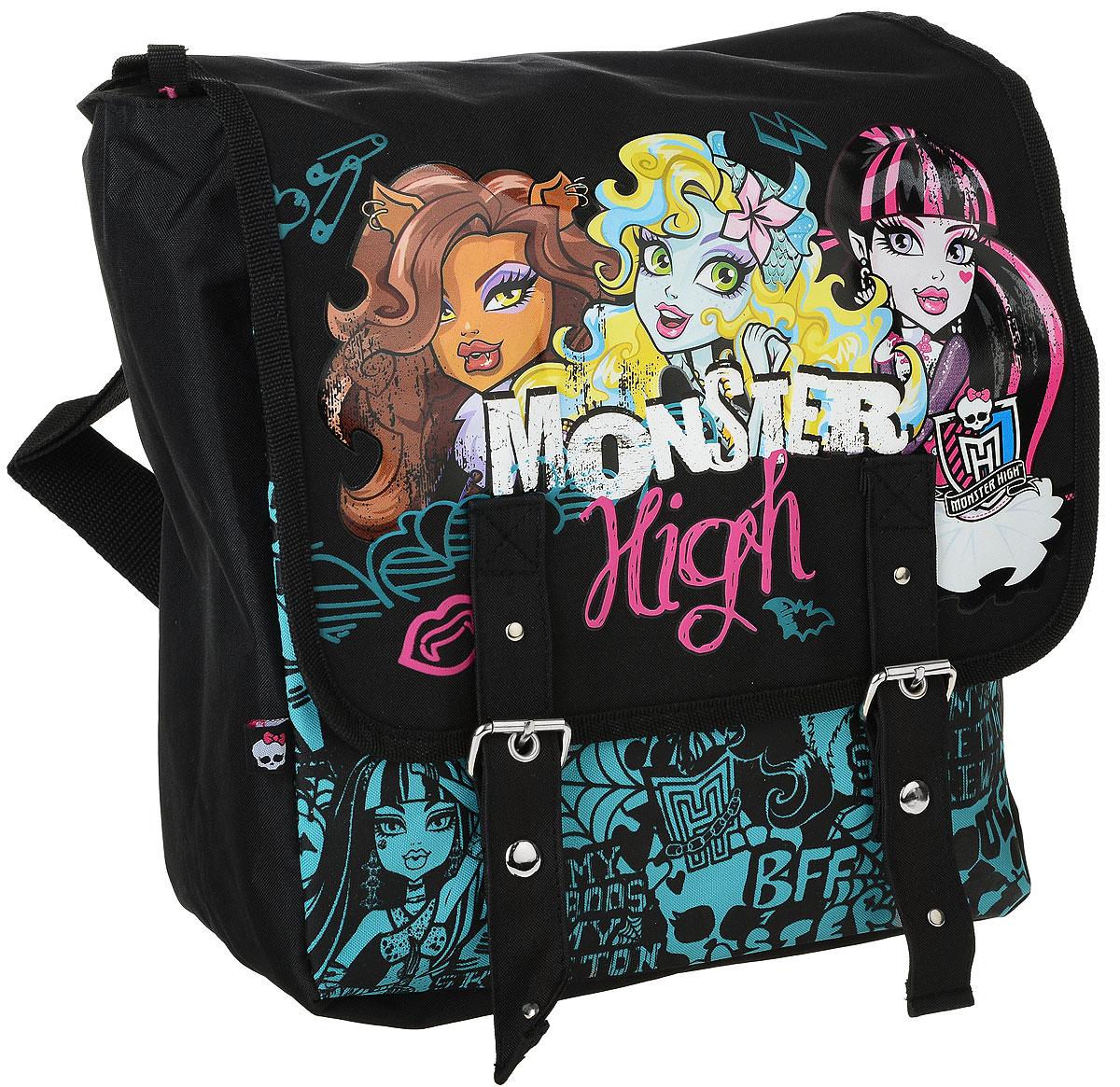 Рюкзак Размер 30 х 28 х 12 см. Monster HighNRk_00626Этот рюкзак изготовлен из износостойкой легкомоющейся ткани. Сверху рюкзак застегивается на застежку молния, а затем закрывается клапаном на двух магнитных застежках. Внутри рюкзака имеется два маленьких кармашка, а также еще один карман на молнии.Плечевые лямки рюкзака Monster High Pink регулируются по длине. Кроме того у рюкзака имеется дополнительная ручка для ношения его в руке.Если Вы ищите подарок девочке, можете быть уверенными, рюкзак Monster High Night непременно придется ей по вкусу!