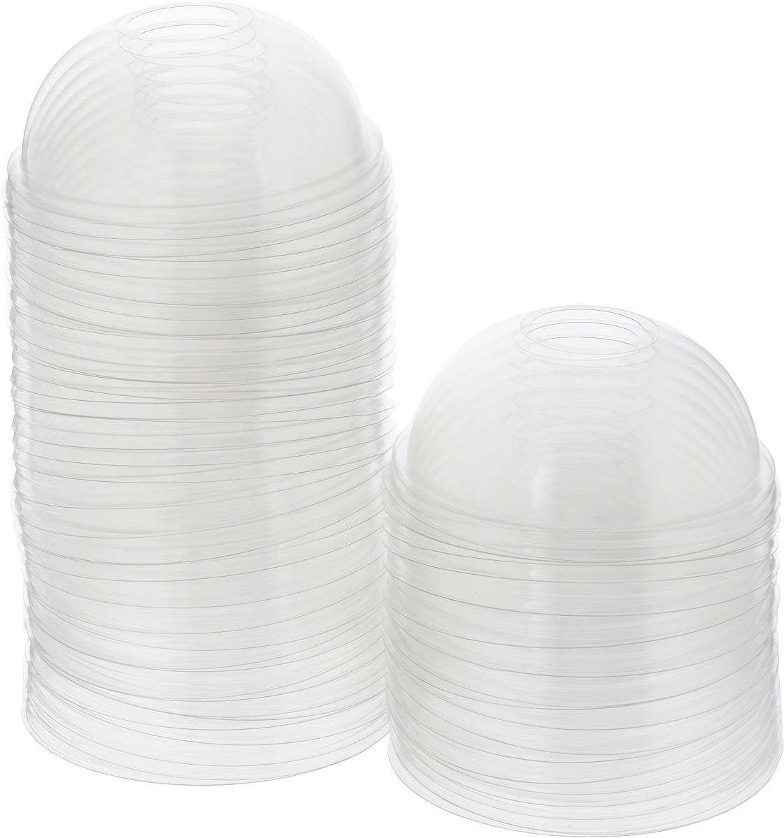 Крышка для стакана одноразовая Стироллпласт, купольная, 50 шт. ПОС31550VT-1520(SR)Одноразовые крышки для стакана Стироллпласт изготовлены из материала ПЭТ (полиэтилентерефталат). Крышки имеют форму купола и отверстия для трубочки. Подойдут для всех одноразовых стаканов диаметром 95 мм. Одноразовая посуда незаменима в поездках на природу, на пикниках, а также на детских праздниках. Она не занимает много места, легкая и самое главное - после использования ее не надо мыть. Диаметр крышки: 9,5 см. Высота крышки: 4,5 см.