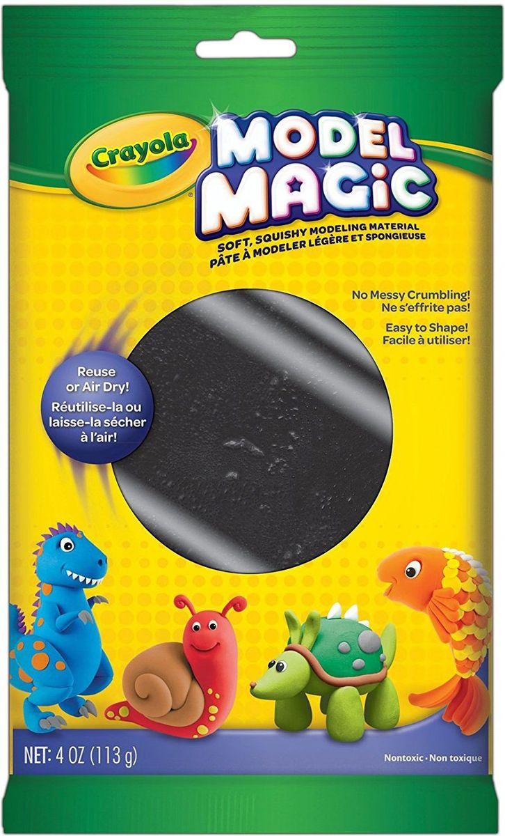 Crayola Застывающий пластилин цвет черный 113 г72523WDВолшебный застывающий пластилин Crayola черного цвета - это незаменимая вещь для творчества вашего ребенка. Чтобы он не решил слепить, без черного цвета ему никак не обойтись. Если это зверюшка - то ей нужны черные глазки и носик, если это человечек - то без черной шляпы ему не обойтись, если это домик - то, конечно же, на крыше будет труба, из которой пойдет черный дым.Волшебный застывающий пластилин предназначен для детей, которым уже исполнилось четыре года. Пластилин хорошо лепится, имеет приятный запах и не прилипает к рукам ребенка.