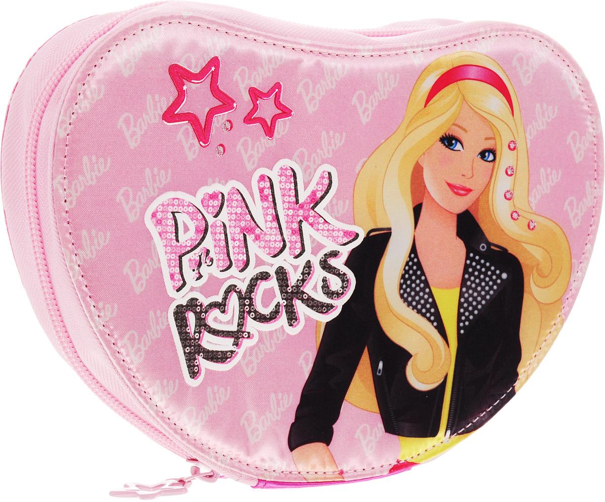 Academy Style Пенал Barbie Pink Rocks2010440Пенал Academy Style Barbie. Pink Rocks станет не только практичным, но и стильным школьным аксессуаром.Пенал выполнен из прочных материалов и закрывается на застежку-молнию. Состоит из одного вместительного отделения, в котором без труда поместятся канцелярские принадлежности.Внутри пенала находятся 13 прочных креплений для канцелярских принадлежностей.Такой пенал станет незаменимым помощником для школьника, с ним ручки и карандаши всегда будут под рукой и больше не потеряются.