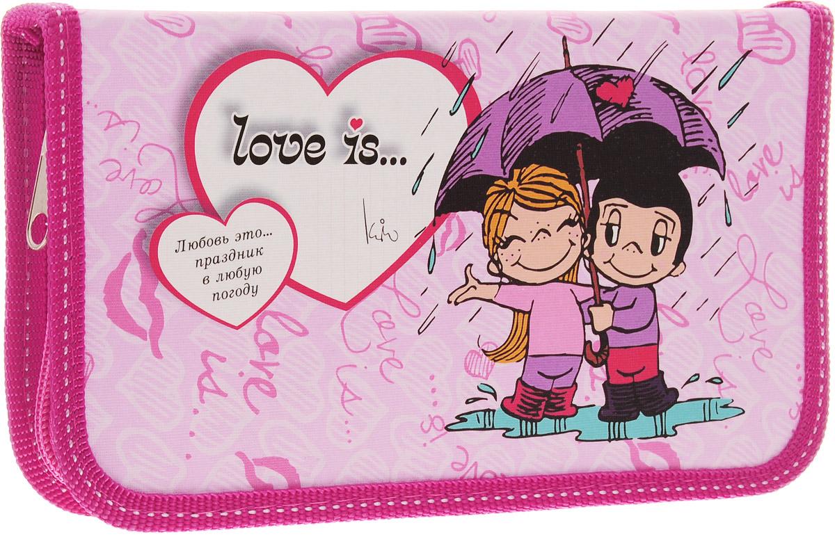 Action! Пенал Love is... цвет розовый LI-190/115-172523WDПенал Action! Love is... станет не только практичным, но и стильным школьным аксессуаром.Пенал выполнен из прочных материалов и закрывается на застежку-молнию. Состоит из одного вместительного отделения, в котором без труда поместятся канцелярские принадлежности.Внутри пенала находятся 15 прочных креплений для канцелярских принадлежностей. Для обеспечения дополнительной износоустойчивости пенал имеет отделку текстилем по краю, а также дополнен закругленными уголками. Такой пенал станет незаменимым помощником для школьника, с ним ручки и карандаши всегда будут под рукой и больше не потеряются.