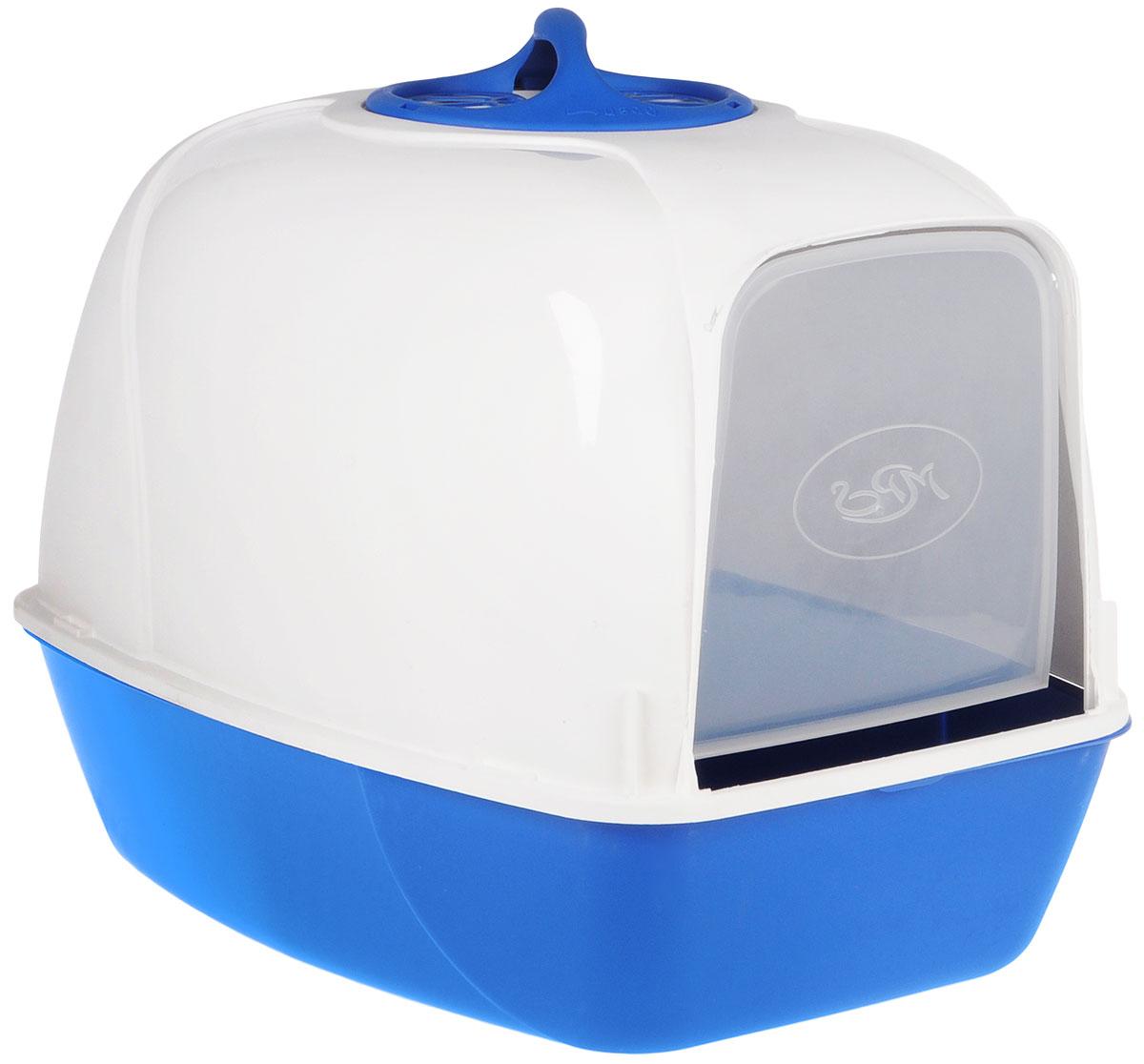 Био-туалет для кошек MPS Pixi, цвет: белый, бирюзовый600701Био-туалет для кошек MPS Pixi, выполненный из нетоксичного пластика в виде домика, поможет вашему питомцу уединиться для удовлетворения своих физиологических потребностей. Туалет оснащен съемной дверцей из прозрачного пластика, которую ваш питомец сможет открыть без труда. Био-туалет не распространяет неприятные запахи, благодаря встроенному угольному фильтру. Кроме того, он обеспечит чистоту в вашей квартире, так как не позволит при закапывании разбрасывать кошке наполнитель вокруг туалета. В комплект входит удобная ручка для переноски.Есть возможность замены угольного фильтра (продается отдельно). Товар сертифицирован.
