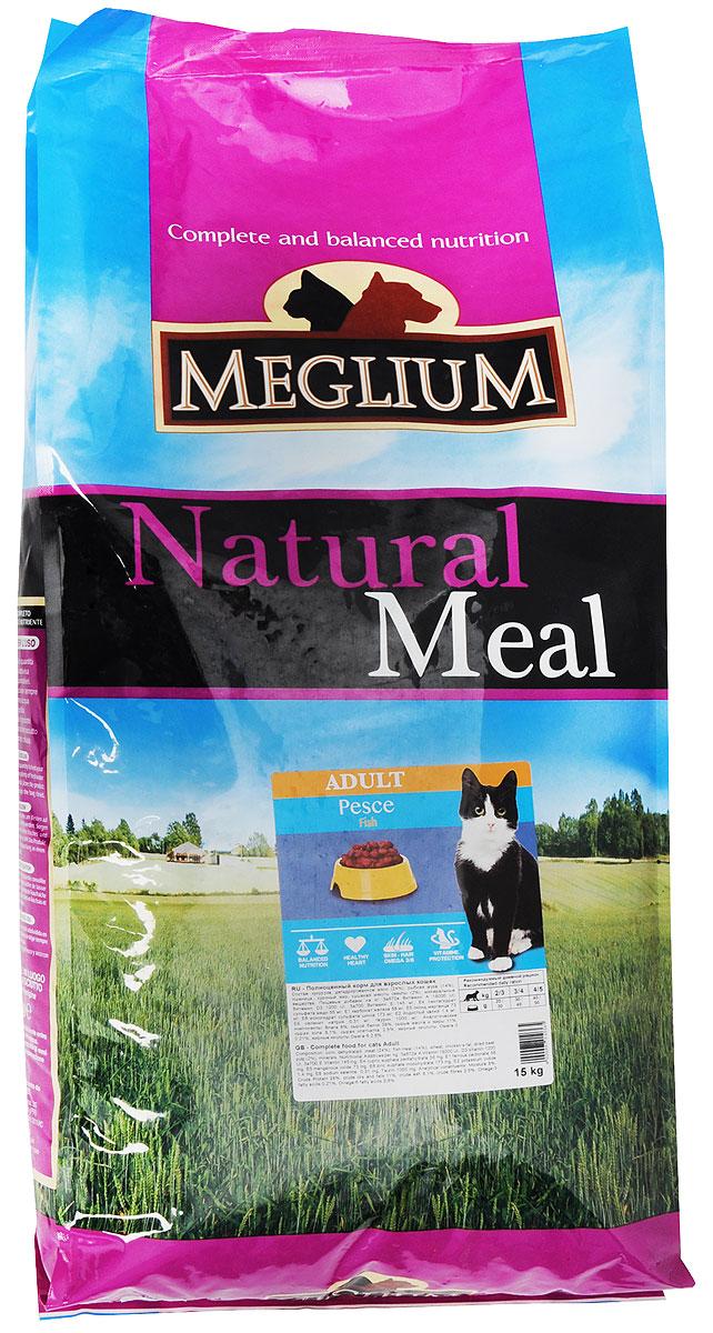 Корм сухой Meglium для кошек с чувствительным пищеварением, с рыбой, 15 кг65202Полноценный, сбалансированный и очень вкусный корм Meglium предназначен для взрослых кошек с чувствительным пищеварением. Специально разработанный корм с рыбой богат легкоусвояемыми полноценными белками и Омега-3 жирными кислотами, отличается сбалансированным соотношением белков и жиров и содержит оптимальное количество витаминов и таурина. Благодаря всему этому данный корм становится отличным решением для удовлетворения пищевых потребностей кошек с чувствительным пищеварением.Товар сертифицирован.
