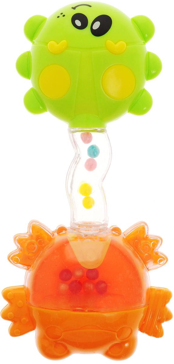 Ути-Пути Погремушка цвет оранжевый салатовый