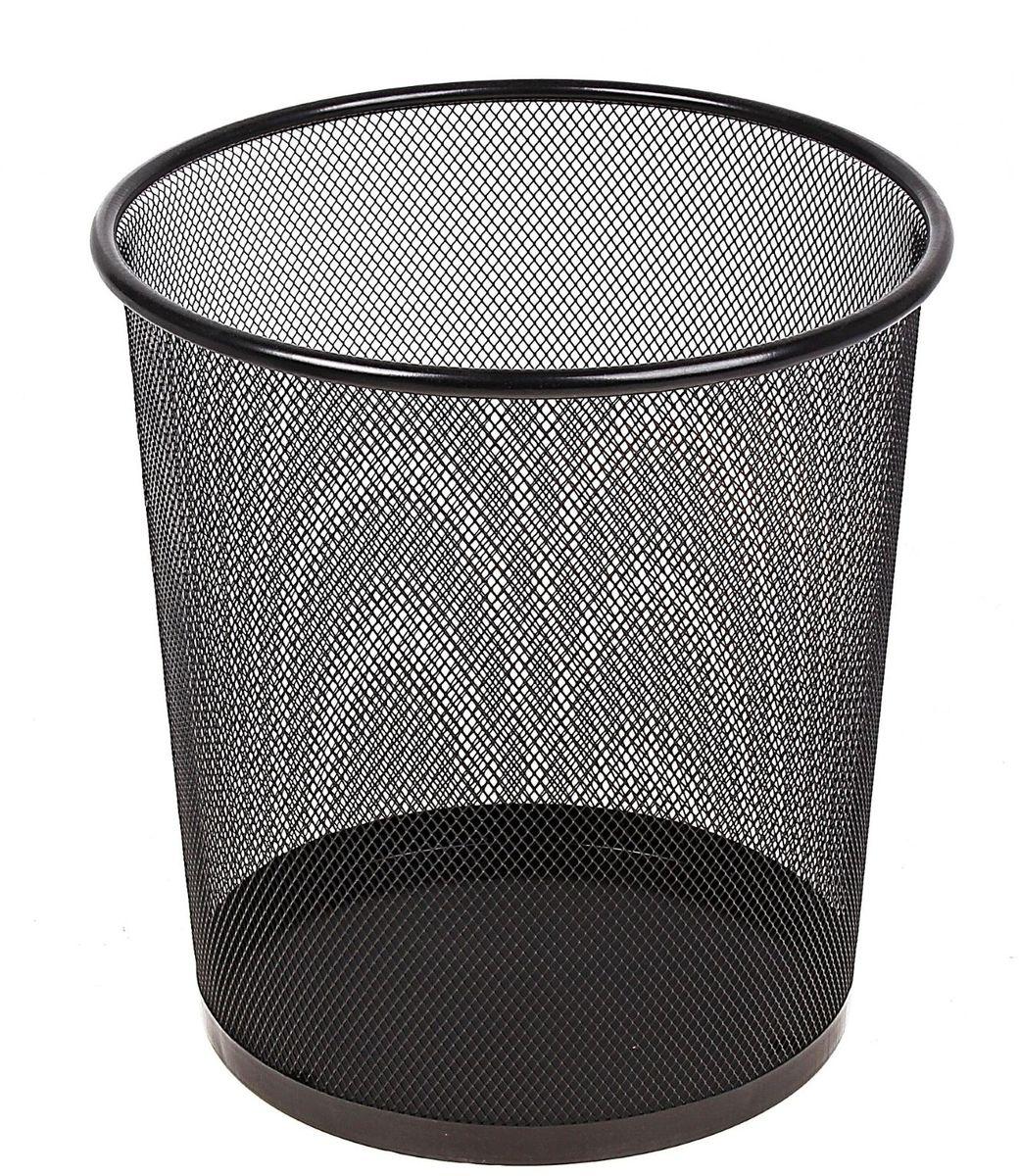 Корзина для бумаг цвет черный 12 л548721Корзина для бумаг выполнена из металлической сетки и предназначена для сбора мелкого мусора и бумаг.Удобная компактная корзина прекрасно впишется в интерьер гостиной, спальни, офиса или кабинета.