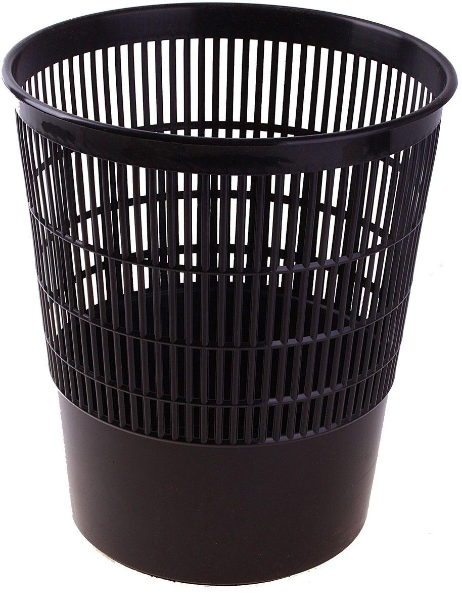 Стамм Корзина для бумаг 18 л цвет черный584824Корзина для бумаг Стамм выполнена из высококачественного пластика и предназначена для сбора мелкого мусора и бумаг. Стенки корзины оформлены перфорацией.Удобная компактная корзина прекрасно впишется в интерьер гостиной, спальни, офиса или кабинета.