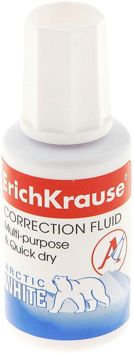 Erich Krause Корректирующая жидкость Arctic White 20 млFS-00102В пластиковом флаконе с кисточкой. Быстровысыхающая, на химической основе. Не требует добавления растворителя. Обладает высокой степенью белизны. Объем 20 мл.