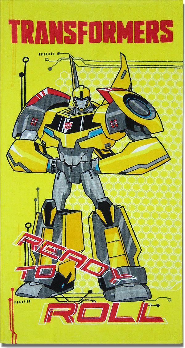 Bravo Полотенце детское Трансформеры цвет желтый 60 x 120 см 1087_06 -  Все для купания