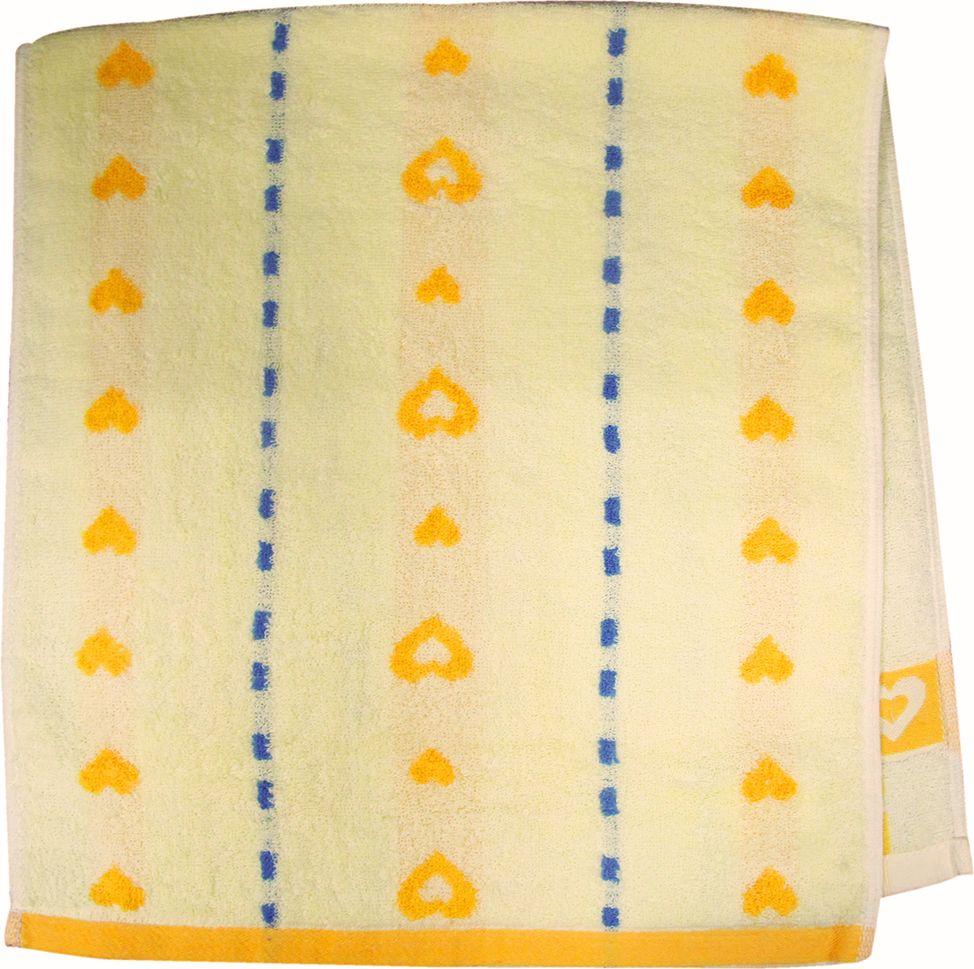 Полотенце махровое Bravo Магнит, цвет: желтый, синий, 40 х 90 см1004900000360Полотенце Магнит выполнено из натуральной махровой ткани (100% хлопок). Изделие отлично впитывает влагу, быстро сохнет, сохраняет яркость цвета и не теряет форму даже после многократных стирок. Полотенце очень практично и неприхотливо в уходе. Оно создаст прекрасное настроение и украсит интерьер в ванной комнате.