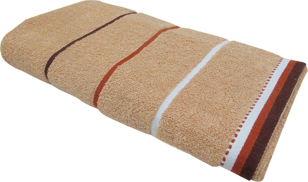 Полотенце махровое НВ Тренд, цвет: бежевый, 70 х 140 см. м0754_0587827
