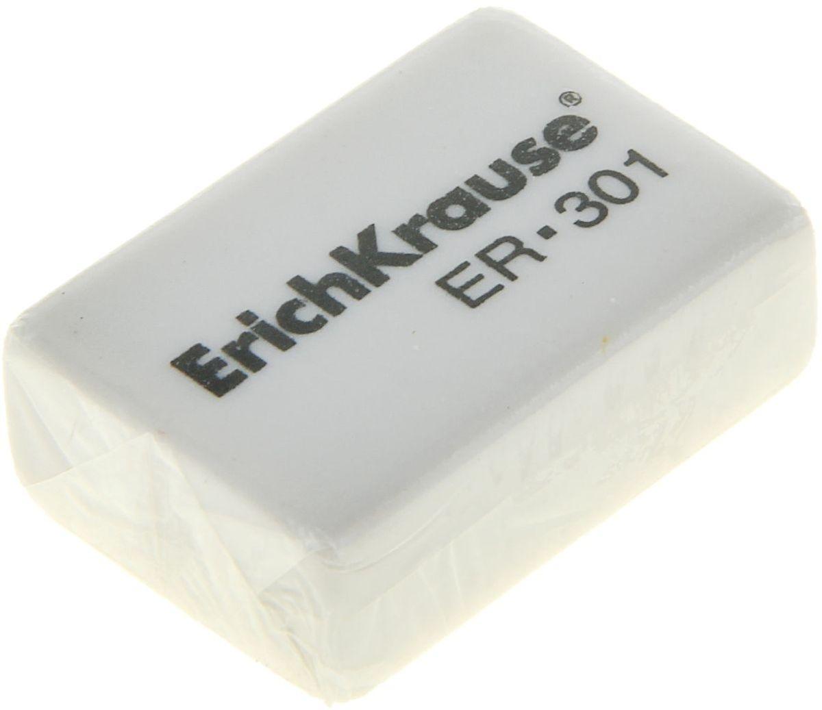 Erich Krause Ластик 3011013716Ластик аккуратно стирает тонкие линии, оставленные карандашами. Не оставляет следов на бумаге.