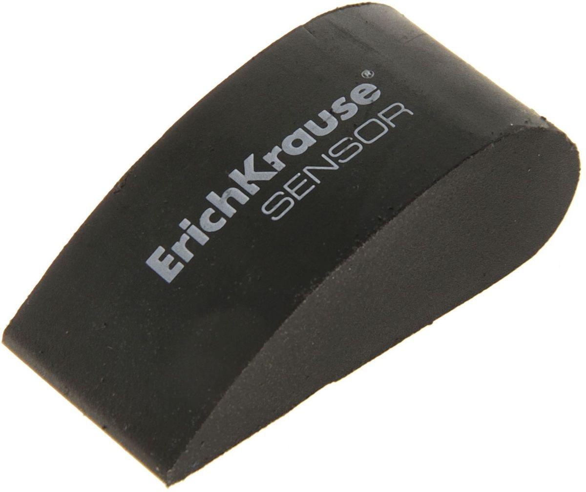 Erich Krause Ластик Sensor цвет черный0703415Ластик Erich Krause Sensor станет незаменимым аксессуаром на рабочем столе не только школьника или студента, но и офисного работника.Мягкий ластик эргономичной формы выполнен из синтетики.При стирании стружка от ластика скатывается в единый комок, а не рассыпается по всей поверхности бумаги.