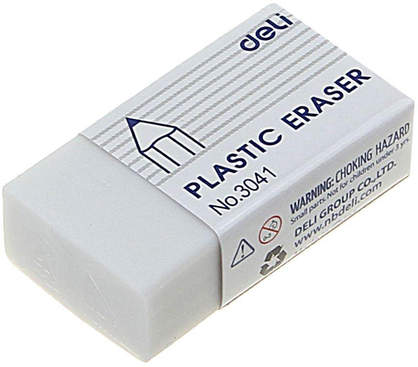Deli Ластик цвет белый1568815Ластик Deli в бумажном держателе имеет мягкую структуру, обладает высокой гибкостью, обеспечивая безупречное стирание.Прямоугольный белый ластик изготовлен из синтетики.