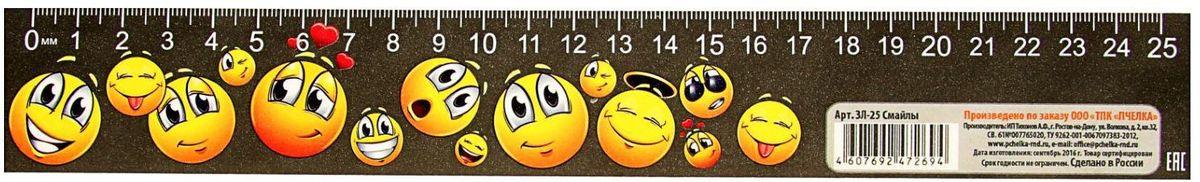 ТПК Пчелка Линейка-закладка Смайлы 25 см1978764Линейка — необходимый инструмент рабочего стола.Закладка-линейка 25 см Смайлы мягкий пластик может понадобиться при изучении любого школьного предмета. Провести прямую линию и начертить отрезок на уроке математики? Легко! Подчеркнуть подлежащее, сказуемое или деепричастный оборот в домашнем задании по русскому языку? Проще простого!Возможности применения этого приспособления широки: оно пригодится как на занятиях в учебном заведении, так и при выполнении работы дома, а также поспособствует развитию начальных навыков черчения!