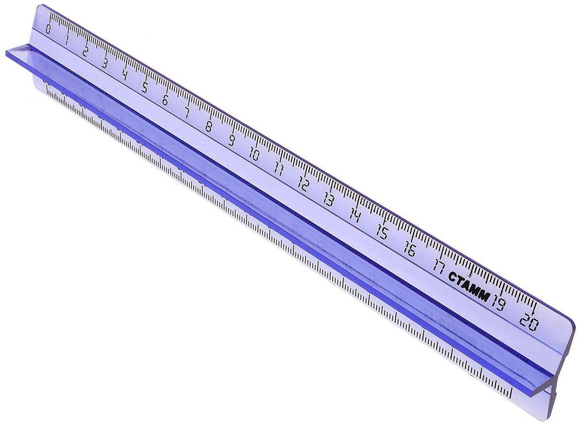 Стамм Линейка с держателем 20 см601418Линейка Стамм, выполненная из прозрачного тонированного пластика, имеет удобный держатель.Это не только необходимый в учебе предмет, но и легкий способ привлечь ребенка к процессу обучения, ведь с такими линейками чертить и отмерять намного интереснее.