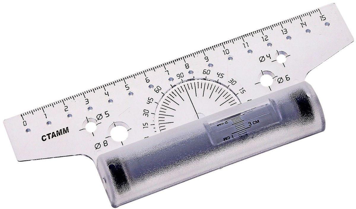 Стамм Линейка-рейсшина 15 см цвет прозрачныйFS-36052Линейка-рейсшина Стамм выполнена из прозрачного пластика с роликом. Она содержит транспортир и трафареты окружностей диаметром 4, 5, 6 и 8 миллиметров. Линейка-рейсшина предназначена для выполнения чертежных работ, оформления докладов и рефератов.