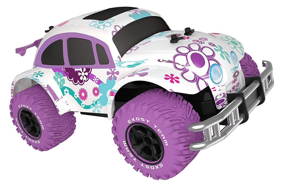 """Машина на радиоуправлении Silverlit """"Pixie"""" предназначена для девочек, которые любят гонки. Данная игрушка хорошо детализирована и имеет яркий неповторимый дизайн. Маленькая гонщица будет в восторге от стильного внешнего вида автомобиля.Машинка оснащена мощными колесами и отлично передвигается по асфальту, по траве и даже по лужам. Игрушка управляется дистанционно с помощью пульта управления, радиус действия которого достигает 30 метров. Игра с данной машинкой обеспечит ребенку веселое и увлекательное времяпрепровождение.Автомобиль работает от 6 батареек напряжением 1,5V типа АА (входят в комплект). Пульт управления работает от батарейки типа """"Крона"""" (входит в комплект)."""