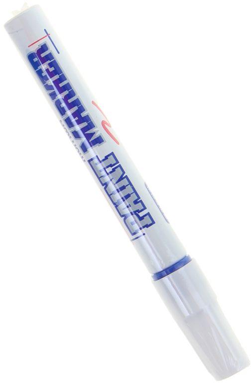 Munhwa Маркер-краска цвет синийFS-36055Маркер-краска Munhwa на нитро-основе великолепно пишет по любому типу поверхности: бумаге, дереву, пластику, металлу, натуральному и искусственному камню, стеклу.Краска морозоустойчива, не выгорает на солнце, может писать по горячей (до 130 градусов) или загрязненной, в том числе и маслами, поверхности.Благодаря дозированной подаче краски при помощи клапанного пишущего узла исключаются растекания, неровности линии и преждевременное пересыхание.Толщина линии - 4 мм.
