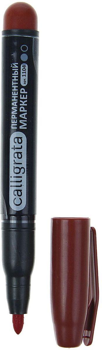 Calligrata Маркер перманентный 1104 цвет красныйFS-36052Перманентный маркер Calligrata 1104 подходит для письма на любых поверхностях. Заправлен водостойкими чернилами на спиртовой основе, которые после нанесения быстро высыхают, не стираются и не растекаются. Надпись на любых поверхностях (стекле, дереве, металле, керамике, бумаге) гарантировано останется яркой и стойкой даже через несколько лет.Плотный колпачок с клипом надежно предотвращает высыхание.Цвет колпачка соответствует цвету чернил.Закругленный пишущий узел.Толщина линии - 4 мм.