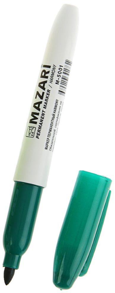 Mazari Маркер перманентный Harmony цвет зеленый1975683Перманентный маркер Mazari Harmony подходит для письма на любых поверхностях. Маркер имеет пулевидную форму наконечника. Толщина линии - 1 мм.