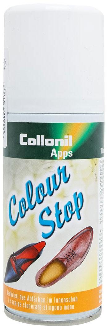 Спрей против окраски обуви Collonil Color-Stop, 100 млMW-3101Спрей Collonil Color-Stop применяется против окрашивания внутренней части обуви. Предотвращает окрашивание ног и чулочно-носочных изделий.Товар сертифицирован.Уважаемые клиенты!Обращаем ваше внимание на возможные изменения в дизайне упаковки. Качественные характеристики товара остаются неизменными. Поставка осуществляется в зависимости от наличия на складе.
