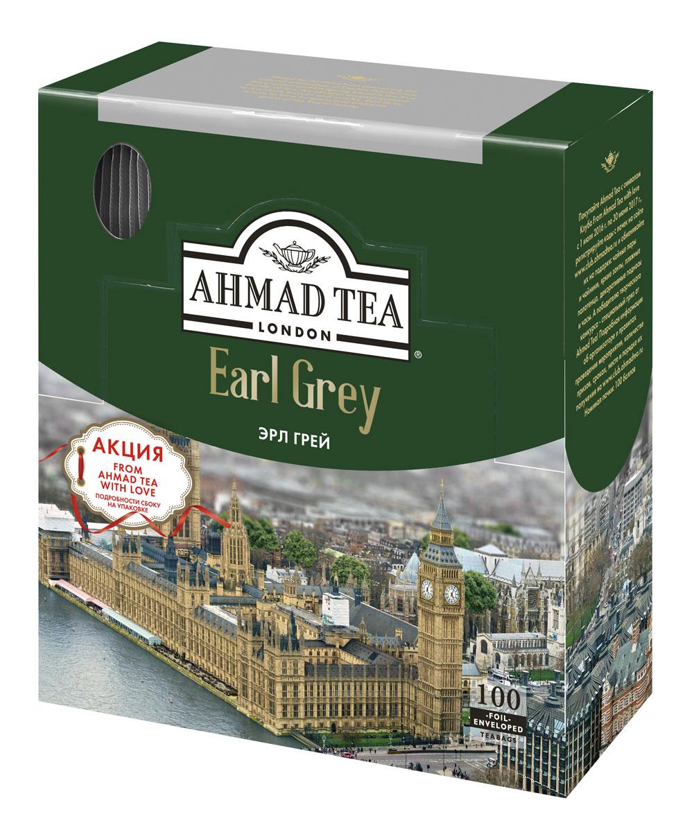 Ahmad Tea Earl Grey черный чай в пакетиках, 100 шт0120710Ahmad Earl Grey - пикантный, интригующий и завораживающий. Истинный денди чая. В нем экзотические цитрусовые ноты и непринужденное благородство цейлонских сортов. Не случайно этот чай - нередкий гость в королевской британской семье. Традиционный five oclock - прекрасный повод подать его с печеньем и легкими закусками.Заваривать 3-5 минут, температура воды 100°С.Уважаемые клиенты! Обращаем ваше внимание на то, что упаковка может иметь несколько видов дизайна. Поставка осуществляется в зависимости от наличия на складе.