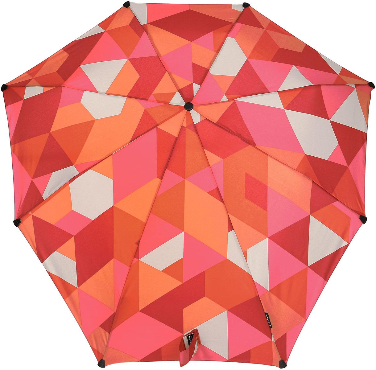 Зонт Senz, цвет: бордовый. 1021056Колье (короткие одноярусные бусы)Инновационный противоштормовый зонт, выдерживающий любую непогоду. Входит в коллекцию urban breeze, разработанную в соответствии с современными течениями fashion-индустрии. Зонт Senz отлично дополнит образ, подчеркнет индивидуальность и вкус своего обладателя. Легкий, компактный и прочный он открывается и закрывается нажатием на кнопку. Закрывает спину от дождя, а благодаря своей усовершенствованной конструкции, зонт не выворачивается наизнанку даже при сильном ветре. Модель Senz automatic выдержала испытания в аэротрубе со скоростью ветра 80 км/ч. - тип — автомат- три сложения- выдерживает порывы ветра до 80 км/ч- УФ-защита 50+- эргономичная ручка- безопасные колпачки на кончиках спиц- в комплекте плотный чехол- гарантия 2 года