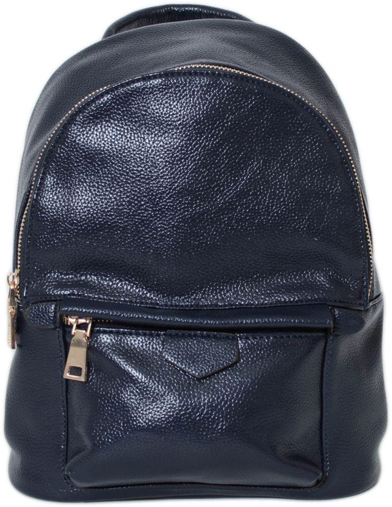 Рюкзак женский Flioraj, цвет: синий. 2138S76245Закрывается на молнию. Внутри одно отделение и два кармана на молнии. Снаружи два кармана на молнии. Высота ручки 5 см.