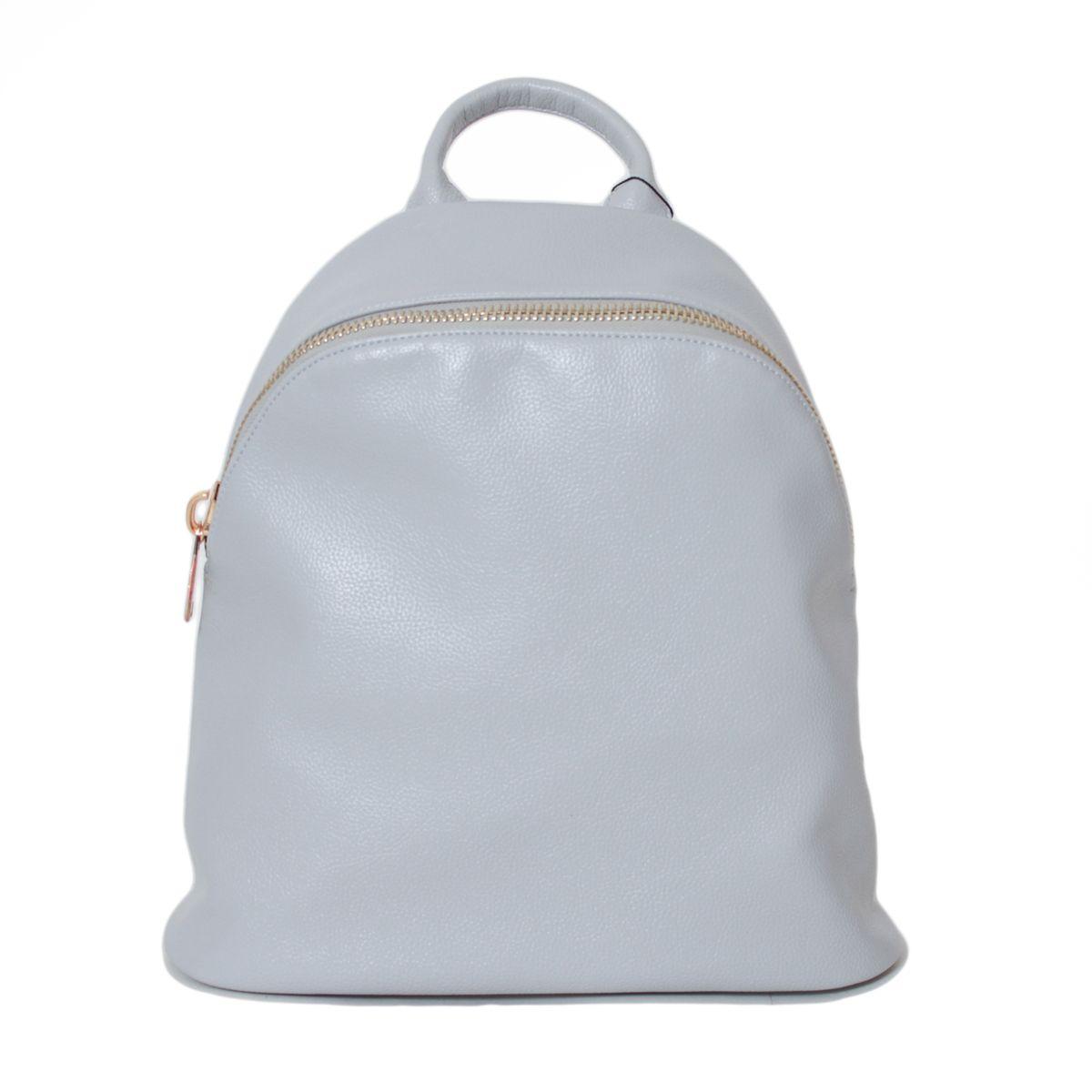 Рюкзак женский Flioraj, цвет: серый. 2137-1S76245Закрывается на молнию. Внутри одно отделение, один карман на молнии, два открытых кармана. Снаружи один карман на молнии. Высота ручки - 8 см.