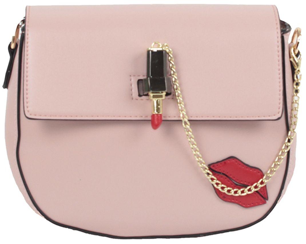Клатч женский Flioraj, цвет: розовый. 8057BM8434-58AEЗакрывается на декоративный замок. Внутри два отделения, два кармана на молнии и два для мобильного телефона, снаружи карман на молнии.