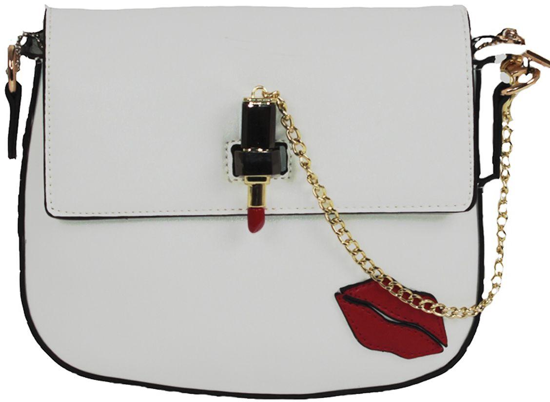 Клатч женский Flioraj, цвет: белый. 8057747998-101Закрывается на декоративный замок. Внутри два отделения, два кармана на молнии и два дл мобильного телефона, снаружи карман на молнии.