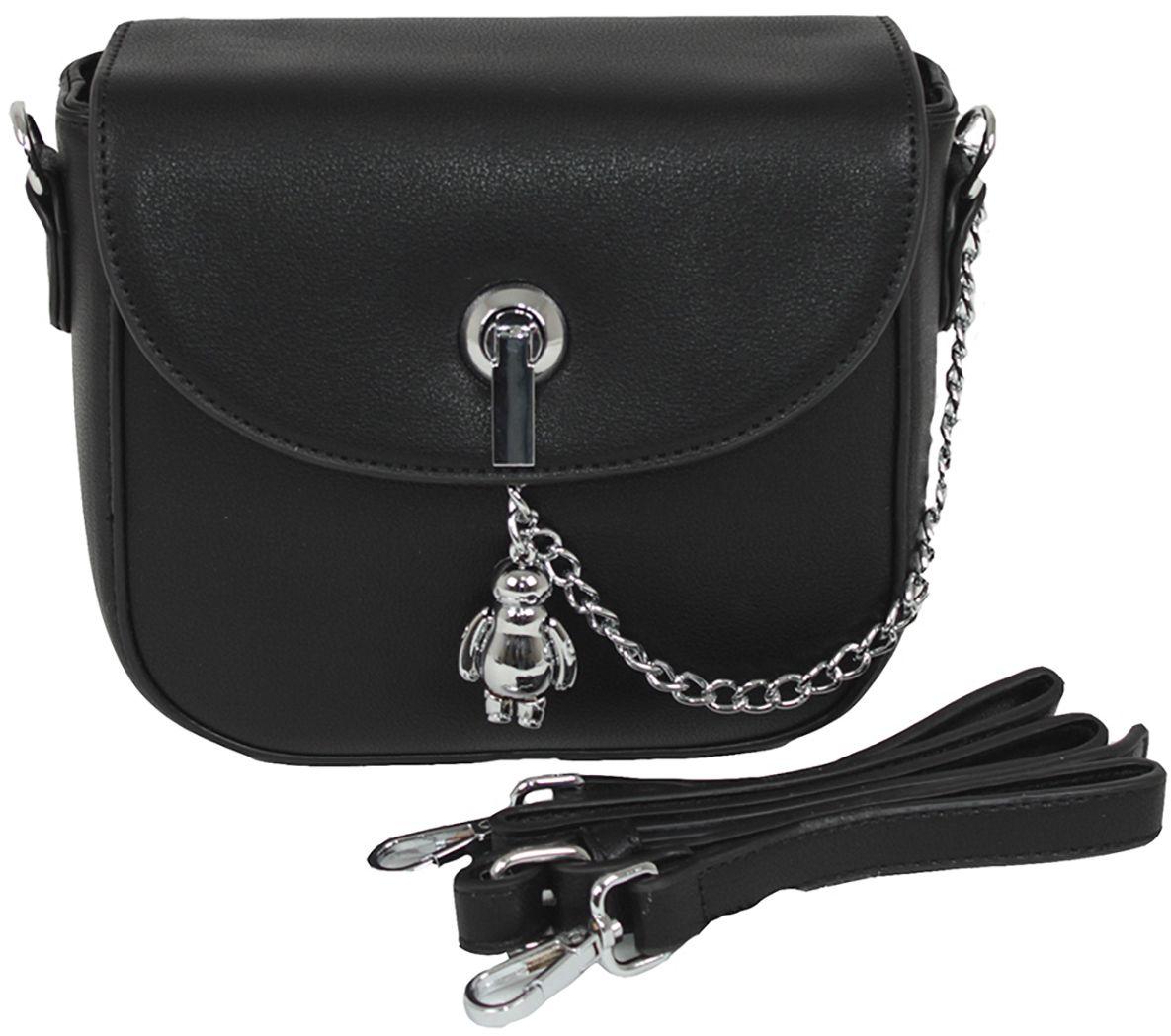 Клатч женский Flioraj, цвет: черный. 8829BM8434-58AEЗакрывается на молнию. Внутри одно отделение, два кармана для мобильного телефона, карман на молнии. В комплекте длинный наплечный ремень.