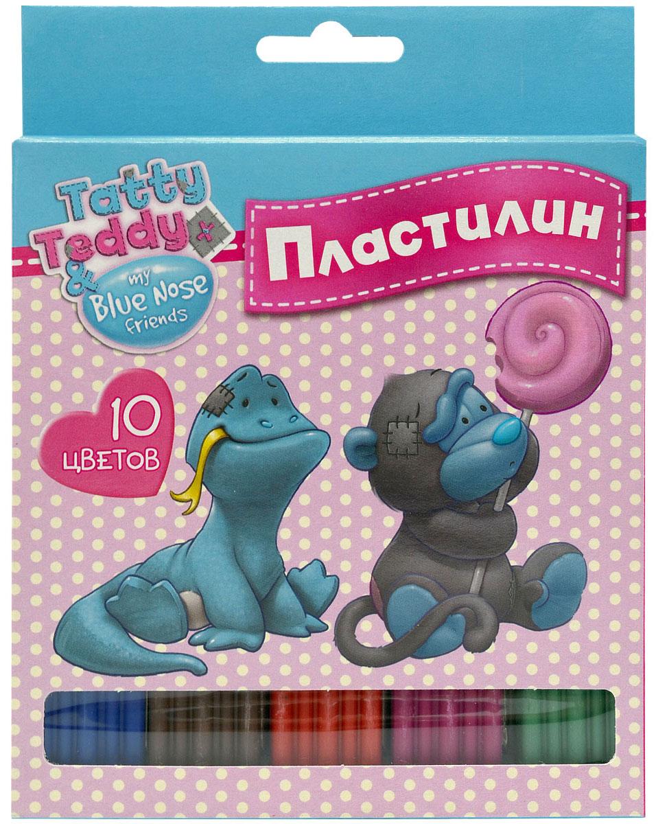 Action! Пластилин Tatty Teddy 10 цветов41760Набор пластилина Action! Tatty Teddy поможет вашему малышу создавать не только прекрасные поделки, но и рисунки. Пластилин обладает особой мягкостью и пластичностью: легко разминается и моделируется детскими пальчиками, не пачкается, не прилипает к рукам и рабочей поверхности, не крошится, не высыхает и хорошо держит форму.Смешивайте цвета, экспериментируйте и развивайте малютку: лепка активно тренирует у ребенка мелкую моторику и умение работать пальчиками, развивает тактильное восприятие формы, веса и фактуры, совершенствует воображение и пространственное мышление.