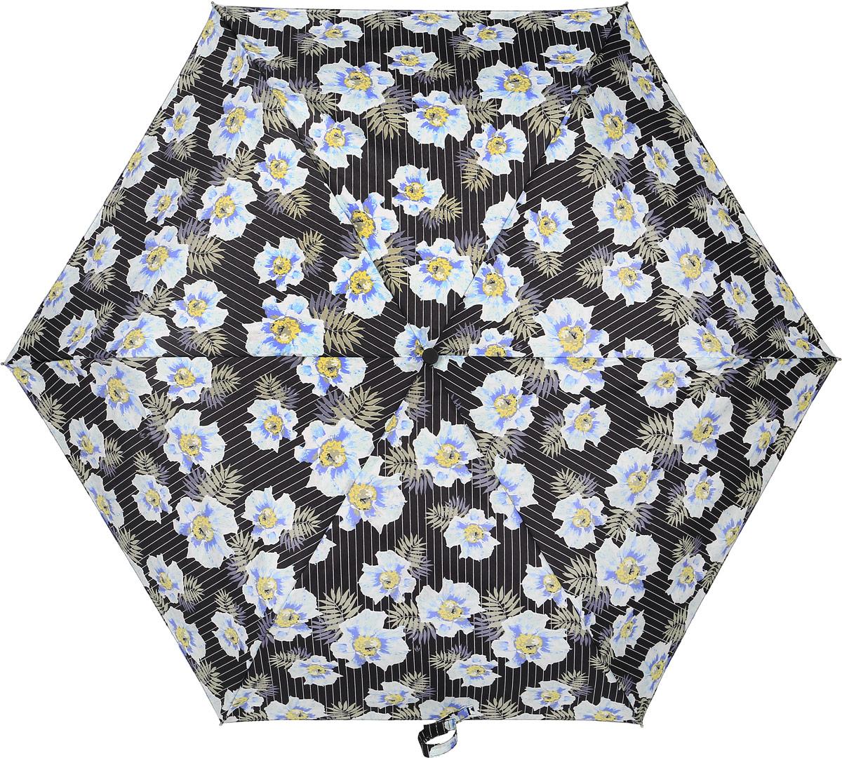 Зонт женский Fulton, механический, 3 сложения, цвет: мультиколор. L553-3375Колье (короткие одноярусные бусы)Стильный механический зонт Fulton имеет 3 сложения, даже в ненастную погоду позволит вам оставаться стильной. Легкий, но в тоже время прочный алюминиевый каркас состоит из шестиспиц с элементами из фибергласса. Купол зонта выполнен из прочного полиэстера с водоотталкивающей пропиткой. Рукоятка закругленной формы, разработанная с учетом требований эргономики, выполнена из каучука. Зонт имеет механический способ сложения: и купол, и стержень открываются и закрываются вручную до характерного щелчка.