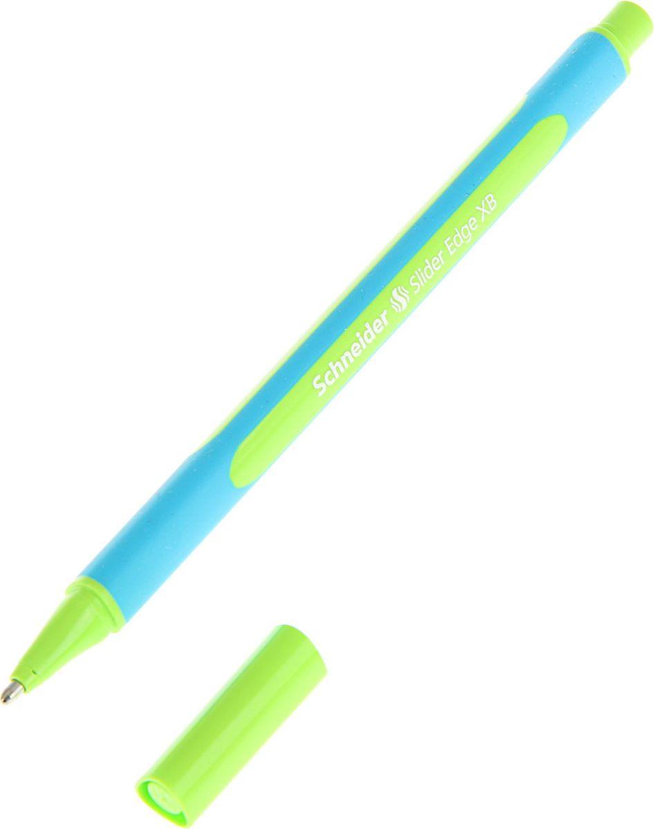 Schneider Ручка шариковая Slaider Edge XB светло-зеленая72523WDШариковая ручка Schneider Slaider Edge XB станет незаменимым атрибутом учебы или работы. Корпус ручки выполнен из пластика. Высококачественные зеленые чернила позволяют добиться идеальной плавности письма.