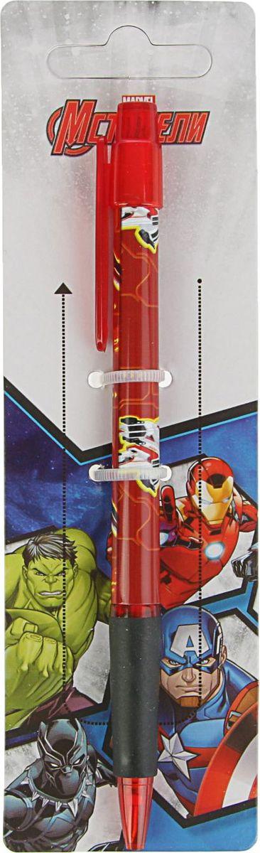 Marvel Ручка шариковая Мстители синяя72523WDРучка шариковая Marvel Мстители - автоматическая с пластиковым клипом и мягким резиновым грипом предназначена для комфортного письма.