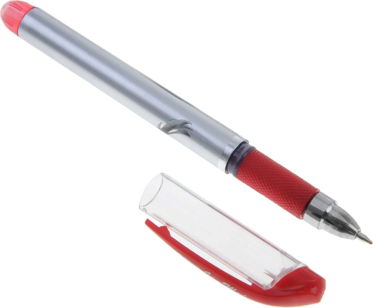 Ручка гелевая Ink красная640927Ручка гелевая INK имеет серебристый корпус с резиновым держателем. Это отличный выбор для любителей мягкого и удобного письма. Гелевая консистенция чернил равномерно распределяется по бумаге и быстро сохнет.Гладкое скольжение пишущего узла, удобный корпус и доказанная надёжность делает такие ручки одними из самых популярных письменных принадлежностей среди детей и взрослых.