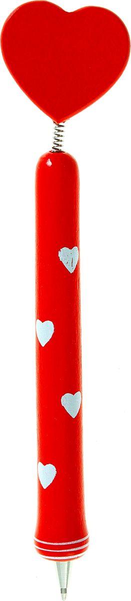 Ручка шариковая Сердце1768386Яркая и веселая ручка Сердце обязательно понравится вашему ребенку. Наконечник выполнен в виде игрушки на пружинке, которая будет двигаться, и забавлять ребенка в процессе обучения письму и рисованию. Ручка изготовлена из натуральной древесины, покрытой нетоксичными красками, поэтому она безопасна для детского здоровья.