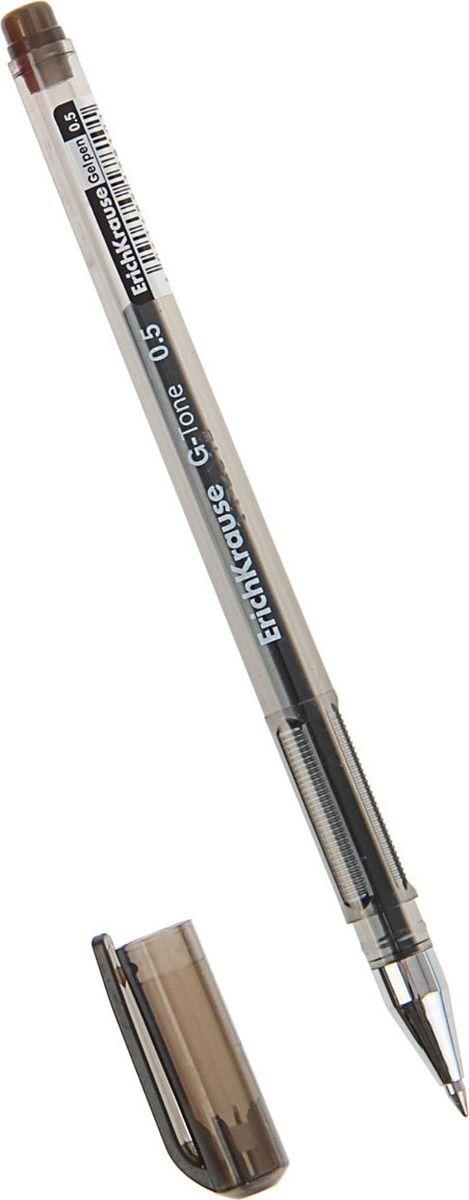 Erich Krause Ручка гелевая G-Tone EK черная0703415Удобная гелевая ручка. Корпус из полупрозрачного тонированного пластика. Цвет корпуса соответствует цвету чернил. Пишущий узел 0. 5 мм обеспечивает чистое и четкое письмо. Сменный стержень. Рекомендуется использовать стержень Erich Krause.