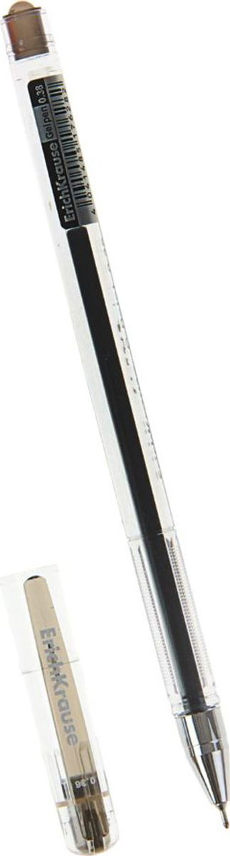 Erich Krause Ручка гелевая G-Point черная72523WDРучка гелевая Erich Krause G-Point - удобная гелевая ручка с прозрачным корпусом для контроля уровня чернил. Металлизированный наконечник. Пишущий узел 0. 38 мм обеспечивает тонкое и четкое письмо. Цвет клипа соответствует цвету чернил. Сменный стержень. Рекомендуется использовать стержень Erich Krause G-Point.