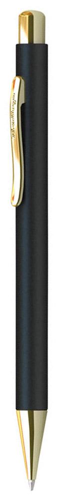 Berlingo Ручка шариковая Golden Standard цвет корпуса черный золотистый72523WDСтильная и удобная шариковая ручка Berlingo Golden Standard с высококачественными чернилами обеспечивает ровное и мягкое письмо.Автоматическая шариковая ручка Berlingo изготовлена из меди и покрыта лаком. Элементы декора выполнены в золотистом цвете. Форма корпуса ручки - круглая. Диаметр пишущего узла - 0,7 мм. Цвет чернил - Шариковая ручка Berlingo Golden Standard упакована в пластиковый футляр.