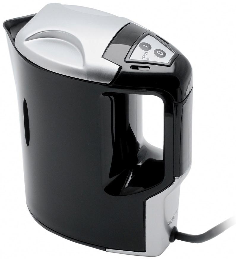 Чайник Koto, автомобильный, цвет: черный, 1 л, 12В12V-601Автомобильный чайник Koto работает от гнезда прикуривателя 12В. Чайник с удобной ручкой, с фиксируемой крышкой. Чайник выполнен из высококачественного термостойкого пластика. Нагревательный элемент из нержавеющей стали, также имеется световой индикатор включения. Чайник позволит быстро вскипятить воду и заварить свежий чай. Такой чайник может стать отличным подарком для любого автомобилиста! Характеристики: Материал:пластик. Высота чайника: 19,5 см. Объем: 1 л. Длина шнура: 70 см. Напряжение: 12В. Мощность: 170 Ватт. Производитель: Китай. Артикул: 12V-601.