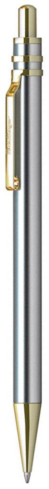 Berlingo Ручка шариковая Silver Premium цвет корпуса серебристый золотистыйCBm_70924Стильная и удобная шариковая ручка Berlingo Silver Premium с высококачественными чернилами обеспечивает ровное и мягкое письмо.Элегантная автоматическая шариковая ручка Berlingo Silver Premium изготовлена из меди и покрыта лаком. цвет корпуса ручки - серебристый, а элементы ручки - золотистые. Цвет чернил - синий. Диаметр пишущего узла - 0,7 мм. Ручка упакована в индивидуальный пластиковый футляр.