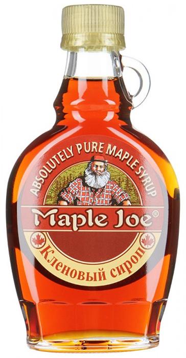 Maple Joe кленовый сироп, 189 мл0120710Канадский кленовый сироп Maple Joe в оригинальном стеклянном кувшине. 100% кленовый сироп без добавления сахара: сладость достигается за счет натуральной глюкозы и сахарозы, полученных из сока клена.