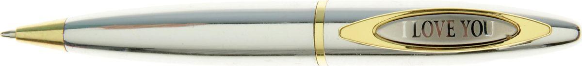 Ручка шариковая I love you синяя714392Очаровательные подарки не обязательно должны быть большими. Порой, достаточно всего лишь письменной ручки. Она давно стала незаменимым аксессуаром, который должен быть в сумочке каждой девушки. Наша уникальная разработка Ручка сувенирная I love you придется по вкусу любой ценительнице прекрасных и функциональных аксессуаров. Сочетая в себе два классических цвета – золотистый и серебряный, с эффектной гравировкой и удобным поворотным механизмом, она становится одним из лучших подарков по поводу и без.