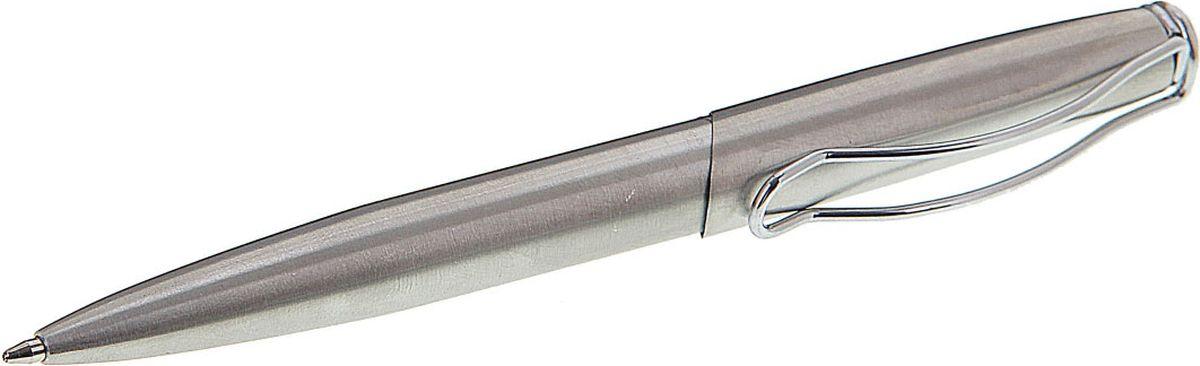 Calligrata Ручка шариковая Изгиб синяя592302Правильно подобранный бизнес-подарок - залог вашей деловой репутации. Благодаря качественному сувениру, можно наладить длительные и выгодные партнерские отношения. Ручка шариковая подарочная автоматическая в кожзам футляре Изгиб серебристая – продемонстрирует ваш безупречный вкус и подчеркнет статус своего обладателя. Обтекаемый металлический корпус декорирован блестящими деталями, а футляр имитирует натуральную кожу. Ручки премиум класса уже давно стали необходимым атрибутом успешного человека, подарить такую ручку коллеге или деловому партнеру – отличный выбор, который попадет точно в цель.